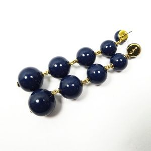 KATE SPADE Gold Plated Navy Blue Dangle Earrings